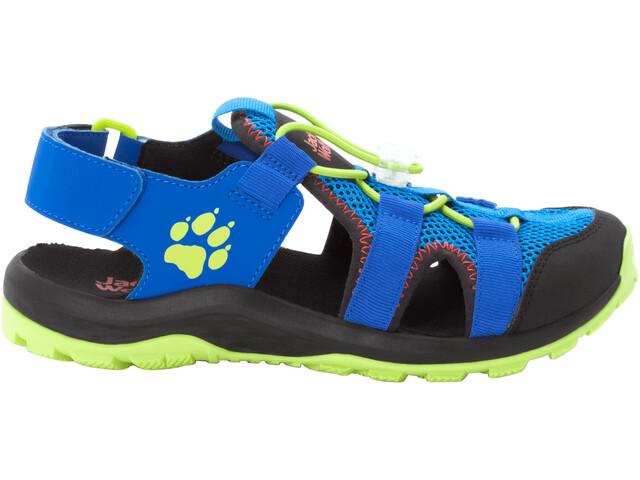 Jack Wolfskin Outdoor Action Sandals Kids blue/lime